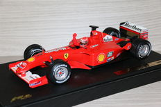 Hotwheels - Schaal 1/18 - Ferrari F2001, World Champion car - M. Schumacher