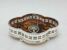 Small tray in Silver Plate and Bakelite, England 21st century