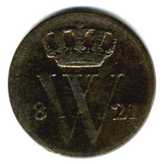 The Netherlands – ½ cent 1821B Willem I