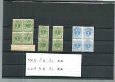 Belgium – Selection between OCB nos. 23 and 45 on stock cards