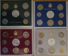 Vatican City, 1996 to 1999 – John Paul II – divisional series including silver coins