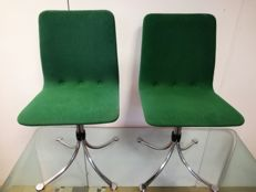 Vier Holland Modern Design Home Brabantia Steel chairs/stools 1960s