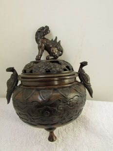 Lovely bronze incense burner - China - 2nd half 20th century