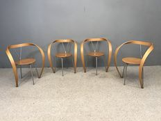 "Andrea Branzi for Cassina - four ""Revers"" chairs"