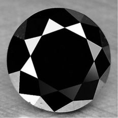 0.85cts.  brilliant cut diamond Black Opaque