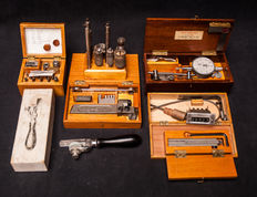 A collection of fine instrument maker tools from a private workshop in Netherlands. Instruments from Switzerland, Japan and Netherlands.