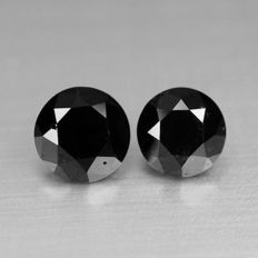 1.50 cts.  brilliant cut diamond Black Opaque