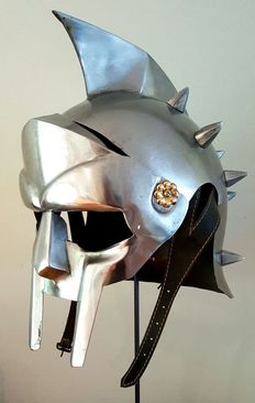 Life-size Gladiator Maximus Helmet - from the movie Gladiator - truly wearable model
