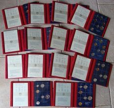 The Netherlands – Year packs  (Proof) 1982/1995 (14 different ones)