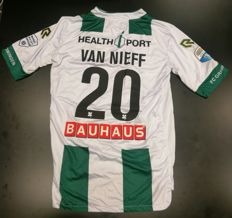Signed and worn match shirt of Yoell van Nieff