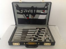 !2 piece Knife Set - New - In a Diplomat's Attache case