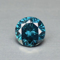 0.17 cts.  brilliant cut diamond Sparkling Titanic Blue SI3