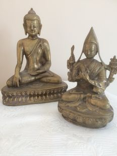 Buddha + Tsongkhapa - statues China/Tibet – 20th century