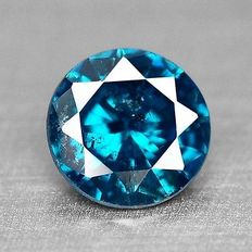0.13 cts.  brilliant cut diamond Sparkling Titanic Blue P1