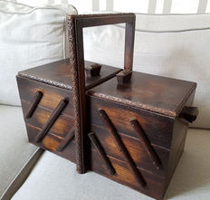 1950 sewing box from grandmother's era, approx. 1950
