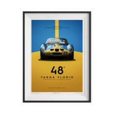 Ferrari Collection - fine art print - Ferrari 250 GTO  -Targa Florio - 70CM X 50CM