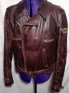 Very old leather motorcycle jacket - Circa 1970
