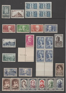 France 1929/1961 - Selection of stamps