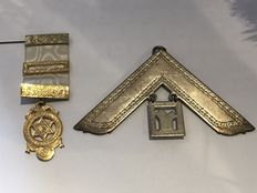 2  rare vintage Masonic very large medals