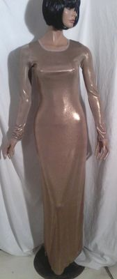 BCBG MaxAzria - Gold lamé evening gown