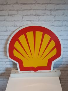 Aluminium Shell advertising sign - one sided - gas station - from the 60s/70s