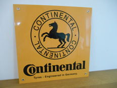 Metal advertising sign for Continental from 1995