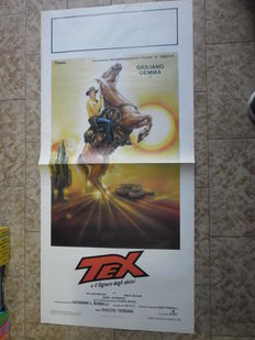 "Movie poster ""Tex Willer e il signore degli abissi"" with actor Giuliano Gemma - (1985)"