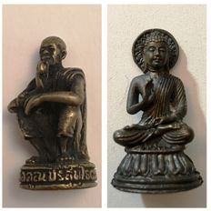 Two signed Buddhist good luck miniatures – Thailand – 2nd half 20th century
