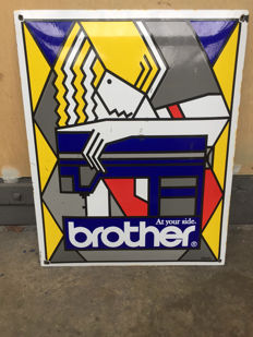 Enamel advertising sign - Brother - design by Ed van Doorn / Emaillerie Willems - second half of the 20th century