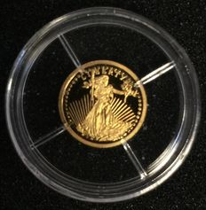 """Smallest gold coins of the world 2003 """"Replica Double Eage"""" - Gold"""