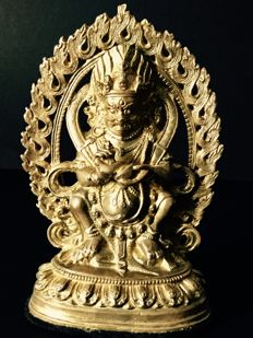 Representation of the God of Fortune in gilded bronze - China - beginning of the 21st century