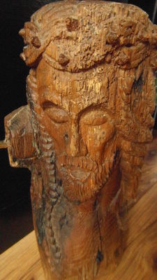 Antique wooden Christ statue, France, approx. 1900