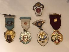Collection of 5 vintage Masonic medals
