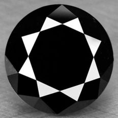 0.94 cts.  brilliant cut diamond Black Opaque