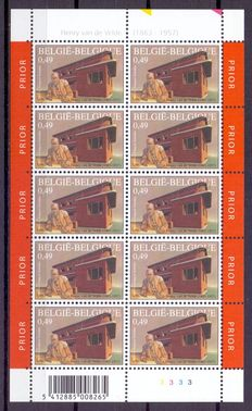 Belgium - Batch of 14 different small sheets of 10