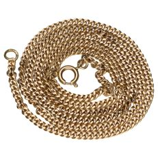14k yellow gold curb link necklace