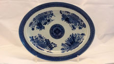 Blue and white porcelain dish - China - late 18th/early 19th century