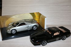 Hotwheels / Greenlight - Scale 1/18 - Caddilac Cien & Pontiac Firebird