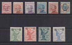 Kingdom of Italy, 1917/24 - Small selection of series