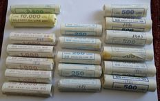 Italy, Republic – lot of over 850 coins in rolls