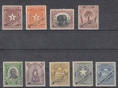 Liberia – Lot of varieties, specimens, and series.
