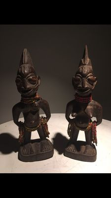 Set of twin commemorative figures (Ere Ibeji) -Yoruba -Nigeria, Africa.