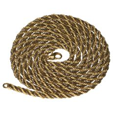 Bicolour rope necklace in 14 kt