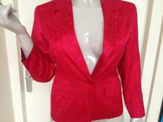 Yves Saint Laurent red two-piece