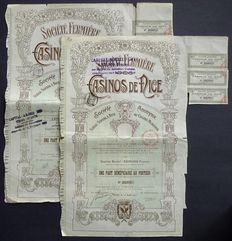 France - Societe Fermiere des Casinos de Nice - 1910 - Lot of 2