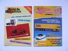 "Lot of 25 volumes (6 sheets per year):   ""Auto in Miniatuur""   1992 to 2016"