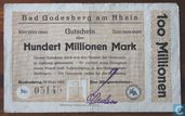 Bad Godesberg 100 Miljoen Mark 1923