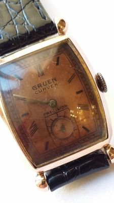 Gruen Curvex – 14 kt rose gold – 1940 – Art Deco