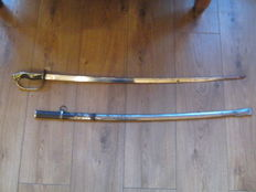 An Early 20th Century Japanese Army Officer's Sword, the 78.4 cm plated blade with single fuller,