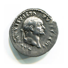 Roman Empire - Vespasian (69-79 AD) - Silver Denarius (3,37 gr., 20 mm.) – Rome Mint, struck 76 AD